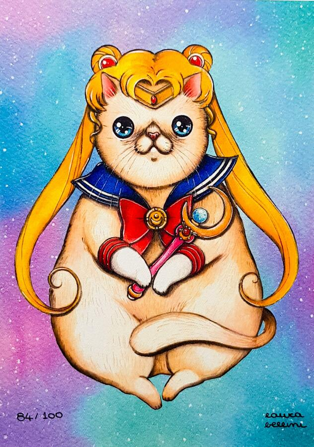 Stampa Sailor moon gatto
