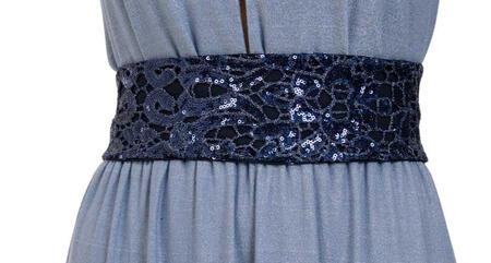 Cintura con ricamo di paillettes
