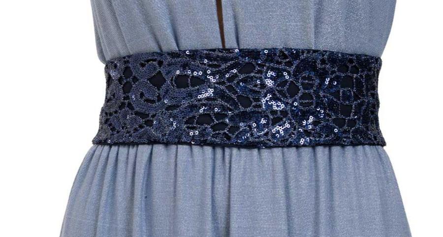 Cintura con ricamo di paillettes - Sartoriale, fatta in italia