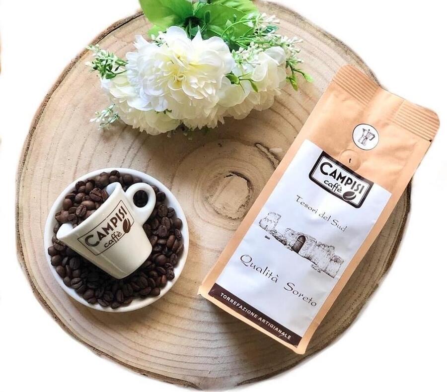 Caffé Qualità Soreto,  Robusta e Arabica, Caffè Campisi,  250 gr