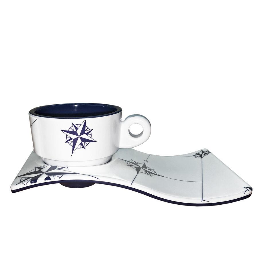 Servizio Caffè Infrangibile in Melanina set 6 pezzi serie NORTHWIND di Marine Business - Offerta di Mondo Nautica 24