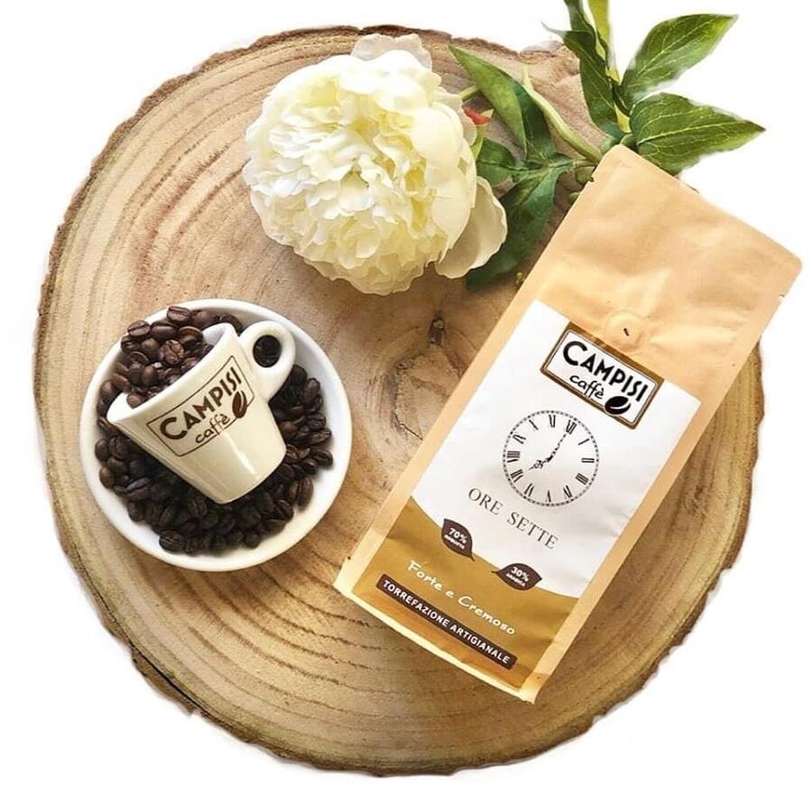 Caffé Ore Sette, Miscela di gusto, Caffé Campisi, 250 gr