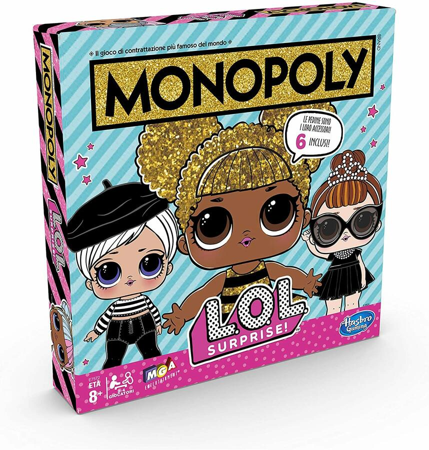 L.O.L. Surprise Monopoly - Hasbro E7572 - 8+ anni