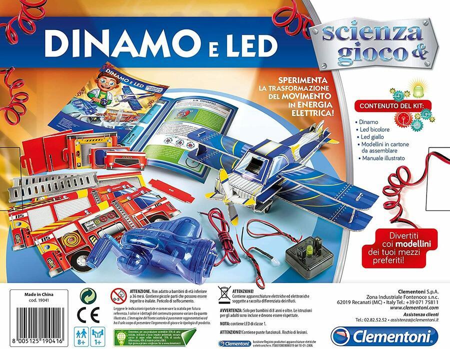Scienza & Gioco - Dinamo e LED - Clementoni 19041 - 8+ anni