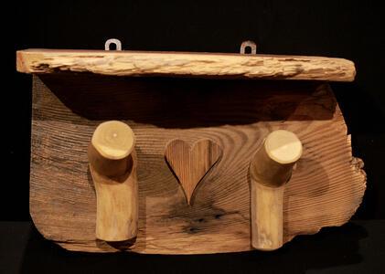 Appendiabiti legno vecchio