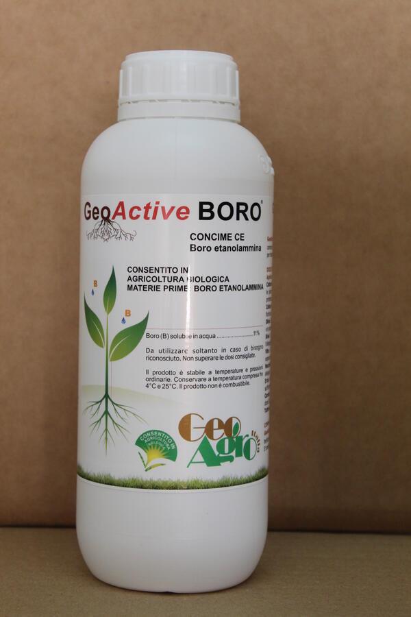 GEOACTIVE BORO FLACONE 1 LT PARI A 1,4 KG AUTORIZZATO IN AGRICOLTURA BIOLOGICA