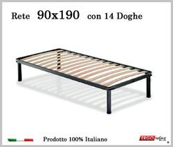 Rete per materasso a 14 doghe in faggio VIENNA 90x190 cm. 100% Made in  Italy