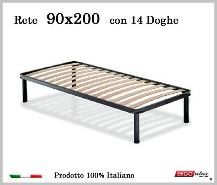 Rete per materasso a 14 doghe in faggio VIENNA 90x200 cm. 100% Made ...