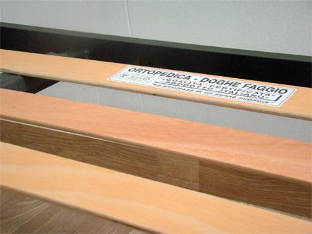 Rete per materasso a 14 doghe in faggio VIENNA 130x190 con Doppia Barra Centrale cm. 100% Made in  Italy