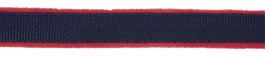 Capezza per cavalli DEXTER rosso/blu con lato inferiore in pile taglia 2 per purosangue (COB)