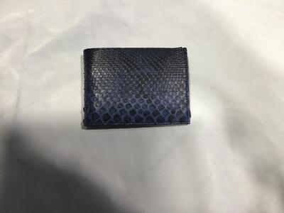 Portafoglio Pitone Blu