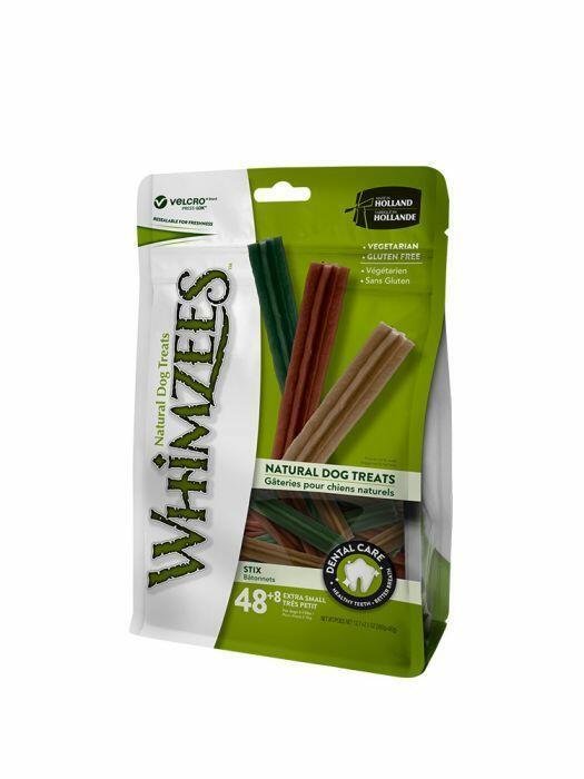 Whimzees XS Snack Per Cani Vegetale Grain Free Dentastix Pulizia Denti 56 Pezzi