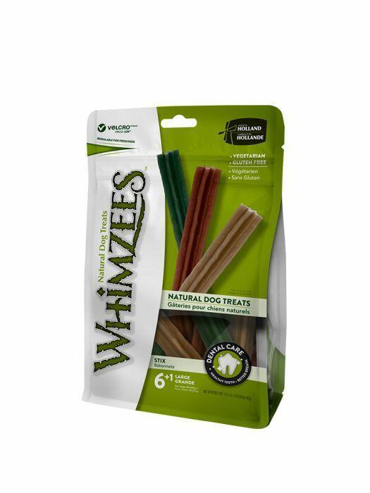 Whimzees L Snack Per Cani Vegetale Grain Free Dentastix Pulizia Denti 7 Pezzi