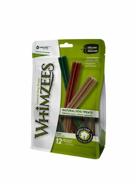 Whimzees M Snack Per Cani Vegetale Grain Free Dentastix Pulizia Denti 14 Pezzi