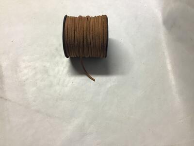 Laccio Scamosciato Piatto Marrone 3mm