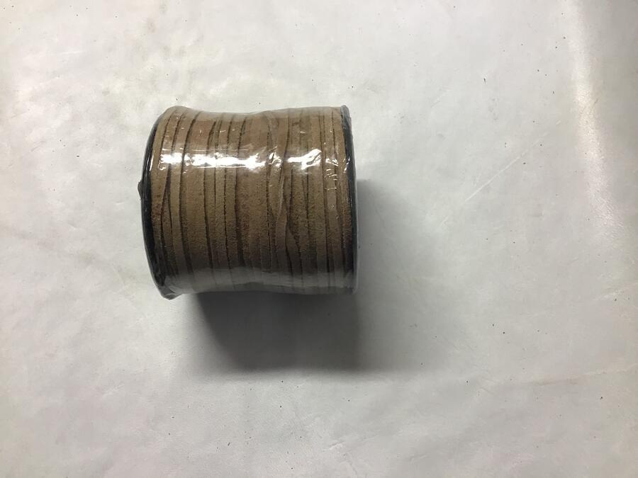 Laccio Piatto Scamosciato Naturale 3mm