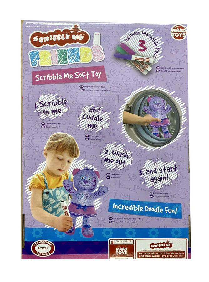 "Scribble Me Soft Toy  Viola ""Chloe Cupckae"" - Maad Toys 57143 - 4+ anni"