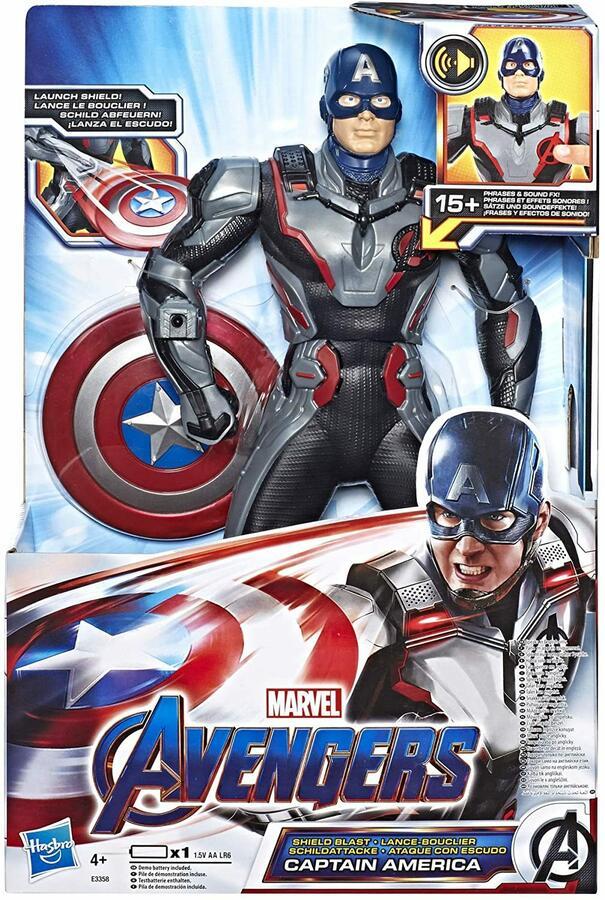 Avengers - Capitan America lancia Scudo con suoni - Hasbro E3358 - 4+ anni