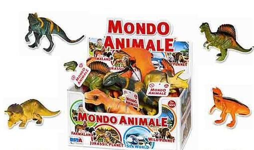 MONDO ANIMALE JURASSIC PLANET DINOSAURI 17 CM ASSORTITI RONCHI SUPERTOYS