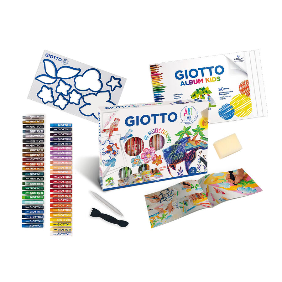 GIOTTO ART LAB OIL PASTELS CREATIONS FILA