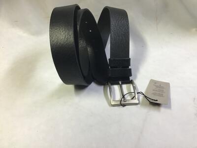 Cintura Cuoio Nero Extralunga 4cm