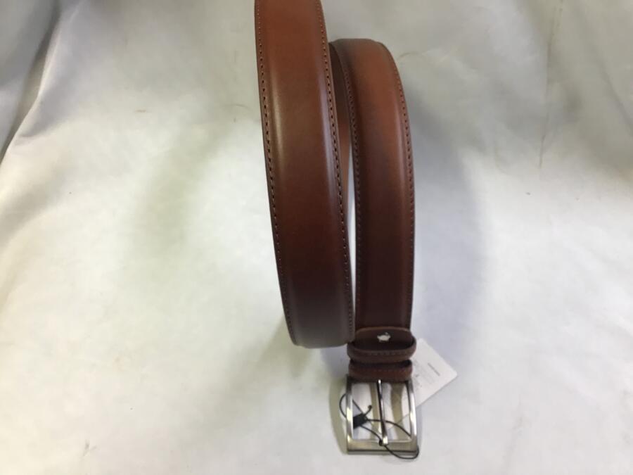 Cintura Doppio Groppone Cognac 4cm