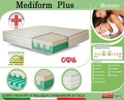 Materasso Memory Mod. Mediform Plus Singolo da Cm 80x190/195/200 Presidio Medico Altezza Cm. 22 - Ergorelax