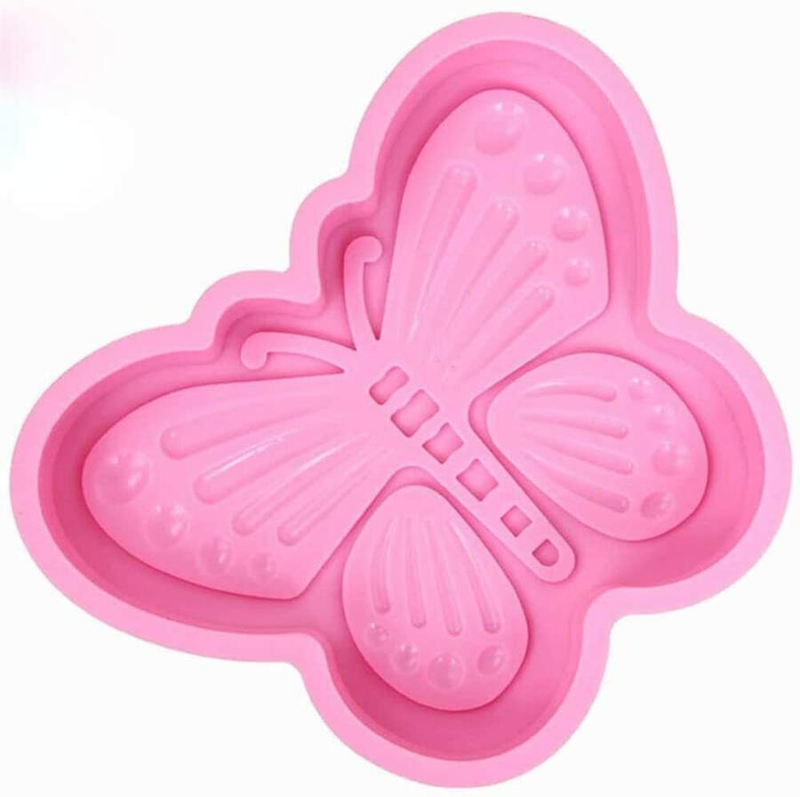 6 pezzi Stampo Forma Formina Stampi Farfalla in Silicone da Cucina Forno Microonde per Decorare Torte Dolci Biscotti Ciambella