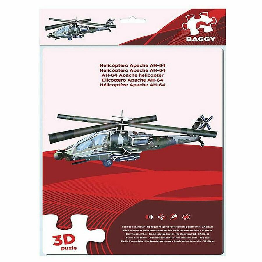 PUZZLE ELICOTTERO APACHE 3D BAGGY