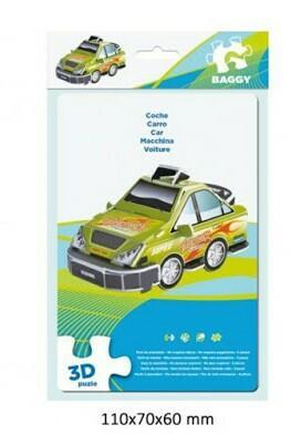 PUZZLE AUTOMOBILE VERDE 3D BAGGY