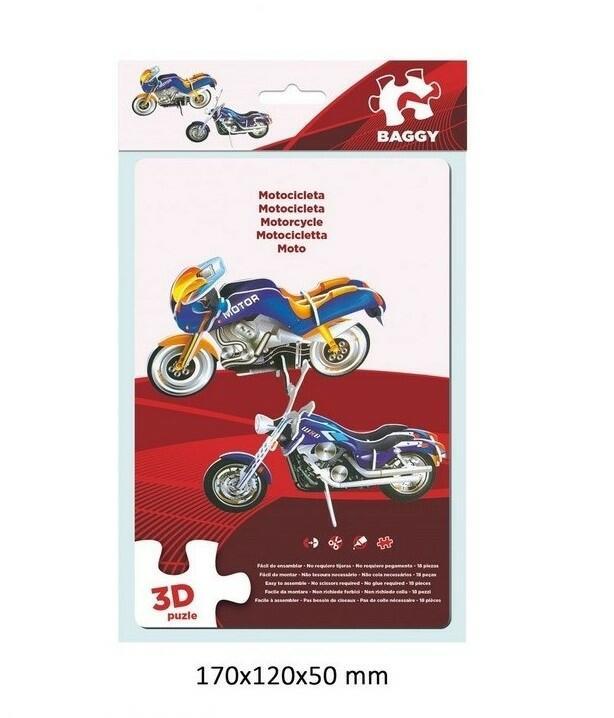 PUZZLE DUE MOTOCICLETTE BLU 3D BAGGY