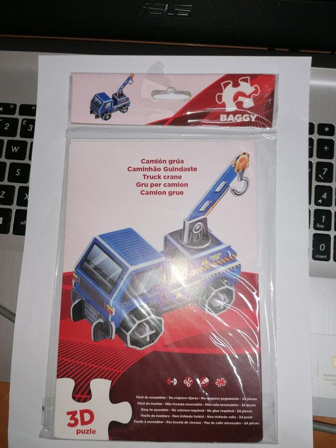 PUZZLE CAMION CON GRU 3D BAGGY