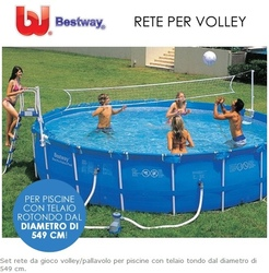 Rete pallavolo per piscine gioco rete volley bestway piscina 58179 cm 549