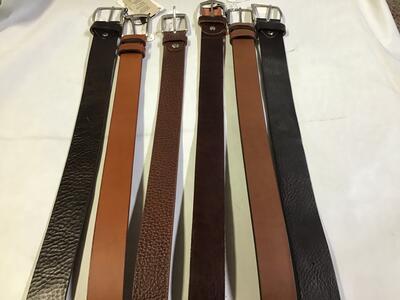 Cintura Cuoio Marrone Testa di Moro 3,5cm