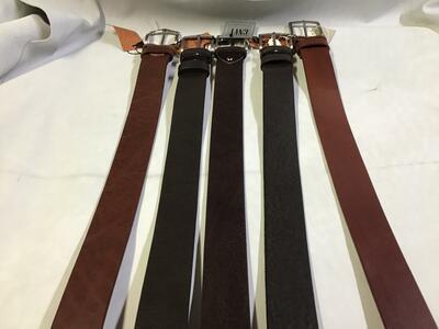 Cintura Cuoio Marrone e Testa di Moro 4cm