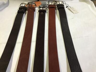 Cintura Marrone e Testa di Moro Extralunga 4cm