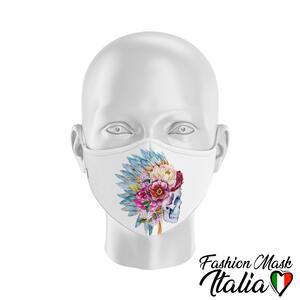 Fashion Mask Indian Skull Flower