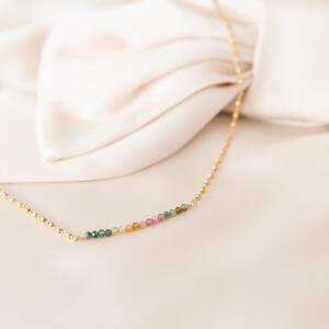 Collana con tormalina multicolore