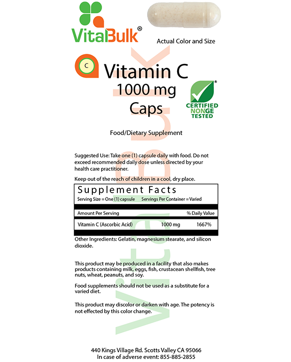 Vitalbulk - VITAMINA C 1000 MG – 1000 CAPSULE