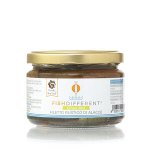 Filetto Rustico Di Alacce Biologico, Fish Different, 250 gr;