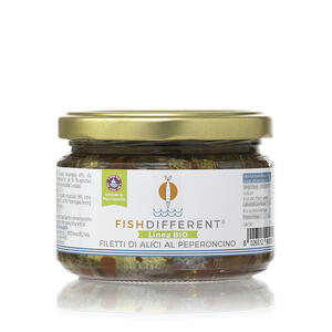 Filetto Rustico Di Alici Biologico Al Peperoncino, Fish Different, 250 gr