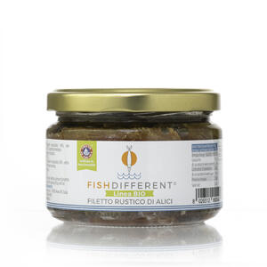 Filetto Rustico Di Alici Biologico, Fish Different, 250 gr