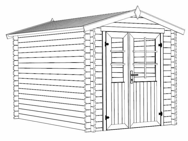 Casetta in legno 2,00 m x 3,00 m - Mod. Flavia Extra - 28 mm con pavimento