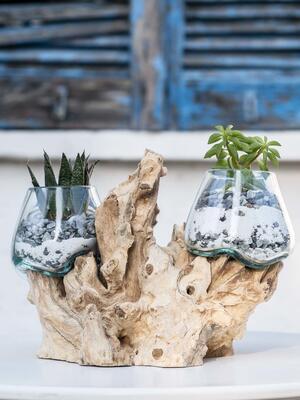 Acquario doppio mini, oggetto di design per interno ed esterno