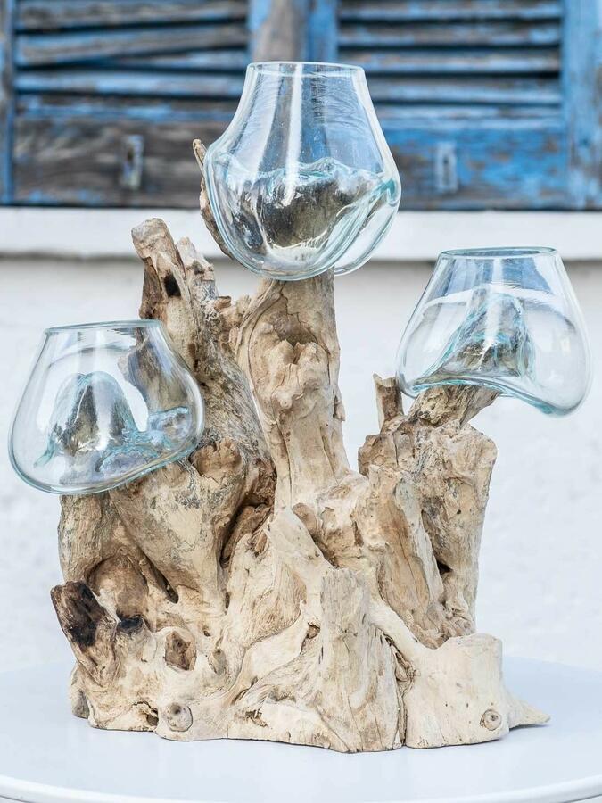 Acquario triplo piccolo, oggetto di design per interno e esterno