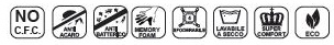 Materasso Memory Mod. Mediform Eco da Cm 85x190/195/200 Presidio Medico Altezza Cm. 22 - Ergorelax