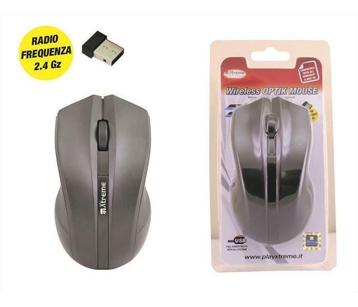 XTREME - 94573 - Mouse RF ottico 3D - NERO