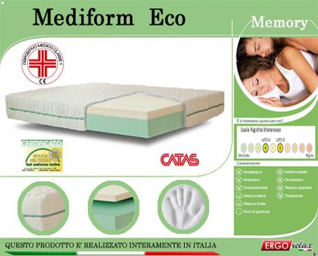 Materasso Memory Mod. Mediform Eco da Cm 120x190/195/200 Presidio Medico Altezza Cm. 22 - Ergorelax