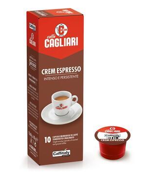 """10 CAPSULE CAFFITALY CAGLIARI """"CREM ESPRESSO"""""""