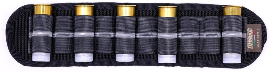 Porta cartucce da cintura nero, 10 celle elastiche